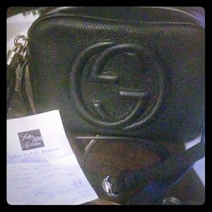 Gucci Crossbody Black Leather Purse.!